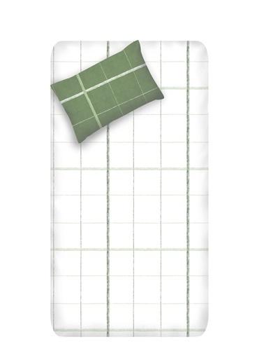 EnLora Home Enlora %100 Doğal Pamuk Çarşaf+Yastık Seti Tek Kişilik Maya  Yeşil